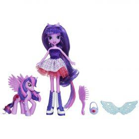Игровой набор Кукла и пони Сумеречная Искорка (Twilight Sparkle), серия Equestria Girls, MY LITTLE PONY