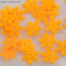 Желтые цветочки из фетра маленькие