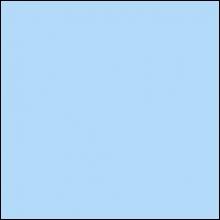 Закрывающий, пристенный П-профиль, к ППР-083, 0303 - голубой (матовый)