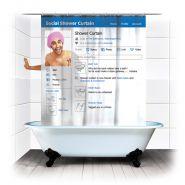 Штора для ванной facebook