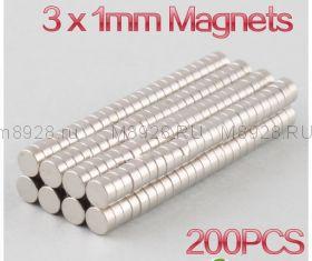 Магнит 3x1 мм N33