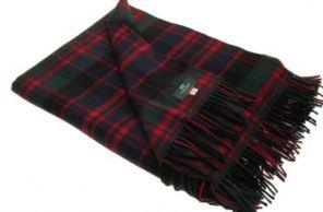 Легкий шотландский плед, расцветка (тартан) клана МакДональд MACDONALD CLAN MODERN TARTAN ,100 % стопроцентная шотландская овечья шерсть, плотность 6