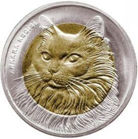 Ангорская кошка 1 лира Турция 2010