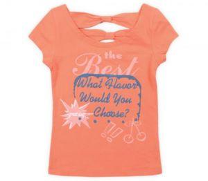 Майка для девочки оранжевая