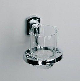 WasserKRAFT K-3028 Подстаканник одинарный стеклянный  Серия Oder К-3000