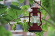 Лампа светильник на солнечных батареях.