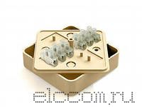 Коробка распред. МРК 50х50 с конт группой(под кабель-канал)