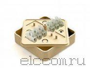 Коробка распред. МРК 75х75 с конт группой(под кабель-канал)