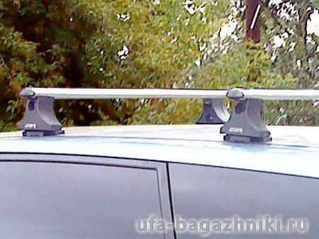 Багажник на крышу Mitsubishi Grandis, Атлант, аэродинамические дуги