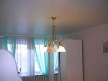 Натяжной потолок в спальню 12 кв.м., сатин без швов