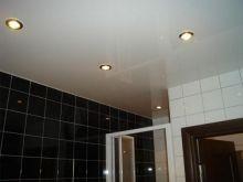 Натяжной потолок в ванную комнату 3 кв.м., глянцевый