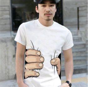 Креативная футболка с 3D-принтом (пальцы)