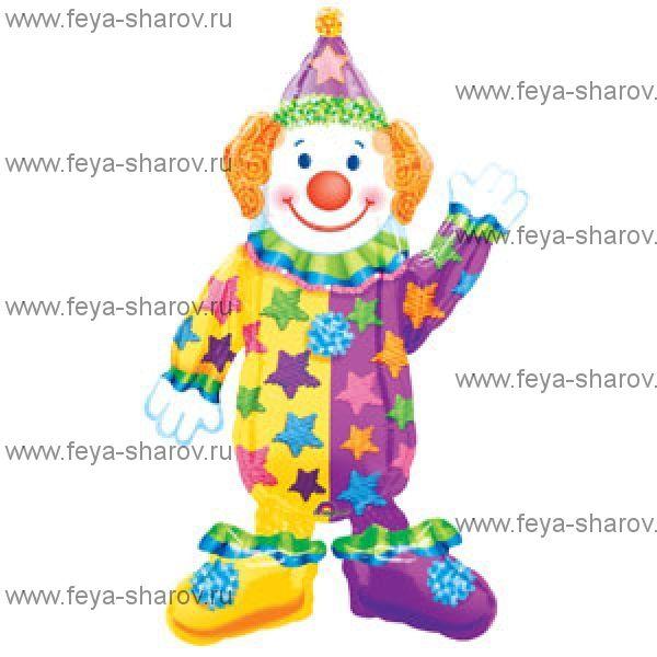 """Шар ходячка """"Клоун"""" (111 см)"""
