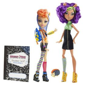Игровой набор Клодин и Хоулин Вульф (Clawdeen&Howleen Wolf), MONSTER HIGH