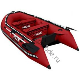 Лодка HDX надувная, модель OXYGEN 300 AL, цвет красный