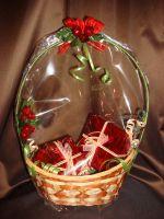 Корзина с подарками - подарочный набор с кофе