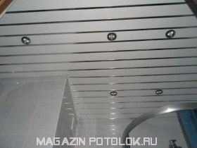 "Комплект реечного потолка ""Бард"" 2х2 м. (белый глянец, хром)"