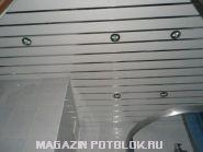 "Комплект реечного потолка ""Бард"" 1,35х0,9 м. (белый глянец, хром)"