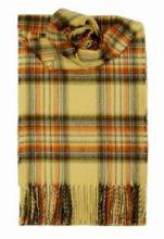 кашемировый шарф (100% драгоценный кашемир) , расцветка  клан Стюартов-Медовый вариант ''Стюарт Хани'', STEWART HONEY  плотность 7