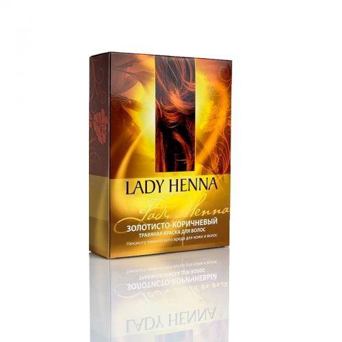 Краска для волос | Золотисто-коричневый | 100 г | Lady Henna