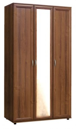№105. Шкаф со штангой, полками и зеркалом  2180x1200x560мм ВxШxГ