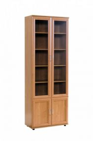 №108.Шкаф для книг со стеклом  2180x800x390мм ВxШxГ