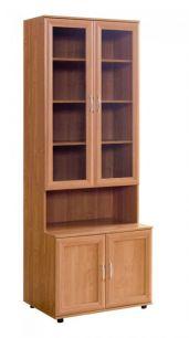 №110. Книжный шкаф со стеклом  2180x800x560/390мм ВxШxГ
