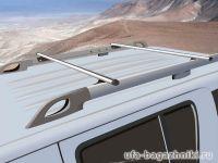 Багажник на крышу Nissan Pathfinder, прямоугольные дуги на рейлинги