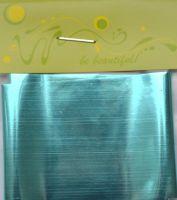 Фольга для дизайна ногтей, литья (переводная). Цвет: глянцевая светло-бирюзовая  (Размер: 4см на 1 метр)