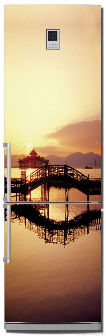 наклейки на холодильник - Мосты