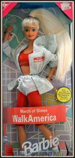 "Коллекционная кукла Барби ""Шагай Америка"" для March of Dimes - Walk America March of Dimes Barbie Doll"
