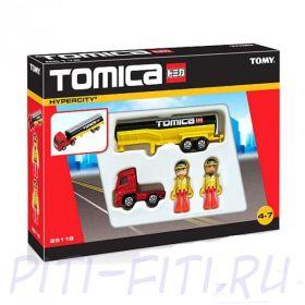 """TOMICA. Набор """"Mega Truck & Figs"""""""