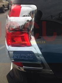 Хромированные накладки на заднию оптику (Тип 1) для Toyota Land Cruiser Prado 150 2013 -