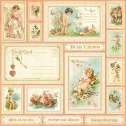 бумага 30*30 Be My Valentine двусторонняя плотность 170