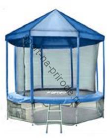 Батут OPTIFIT 12FT Like Blue с сеткой, лестницей и крышей