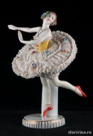 Балерина в классической пачке, кружевная, E & A Muller, Германия, до 1927 года