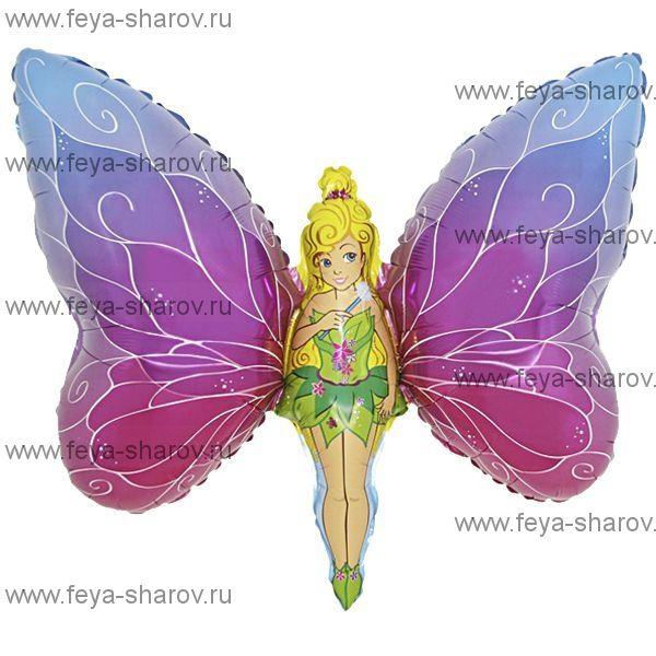Шар фольгированный Леди-Бабочка 81 см