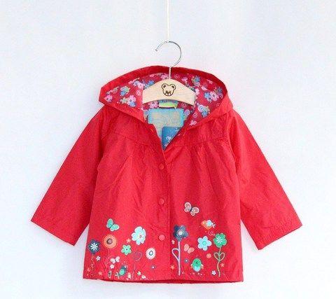 Красная куртка-ветровка для девочки Topolino