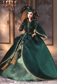 Коллекционная кукла Барби как Скарлетт О'Хара (Платье из зеленых штор) - Barbie Doll as Scarlett O'Hara (Green Drapery Dress)