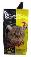 BraVa Впитывающий минеральный наполнитель для котят и гладкошерстных кошек, желтый (7 л)
