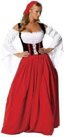 Баварка в длинном платье