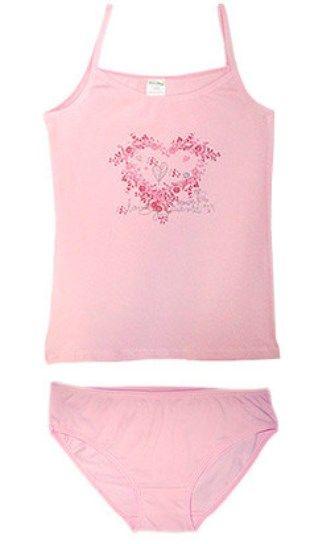 Розовый комплект для девочки Амор