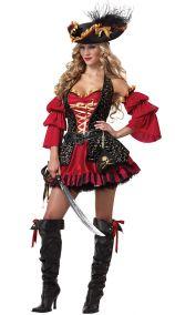 Красный костюм пиратки