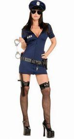 Платье полицейской с ремнем