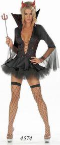 Пышное черное платье дьяволицы