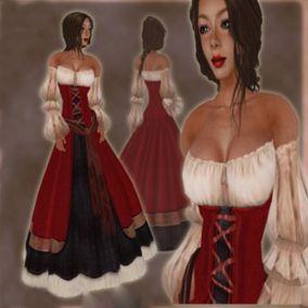 Платье средневековой девушки