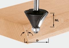 Фреза для профилирования фасок HW с хвостовиком 8 мм HW S8 D36/45°
