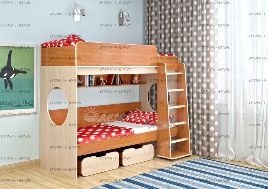 Кровать двухъярусная Легенда-7.1
