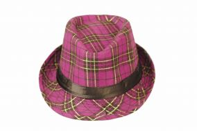 Шляпа стиляги в яркую клеточку