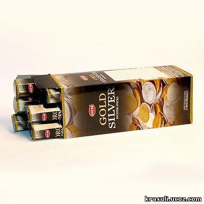 Благовония HEM Hexa SILVER and GOLD золото и серебро
